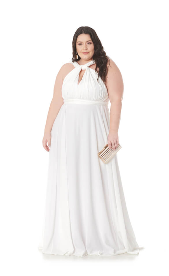 Vestido Mil Formas Plus Size Branco