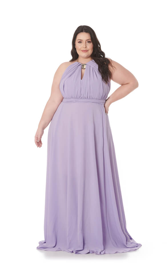 Vestido Mil Formas Plus Size Lilás