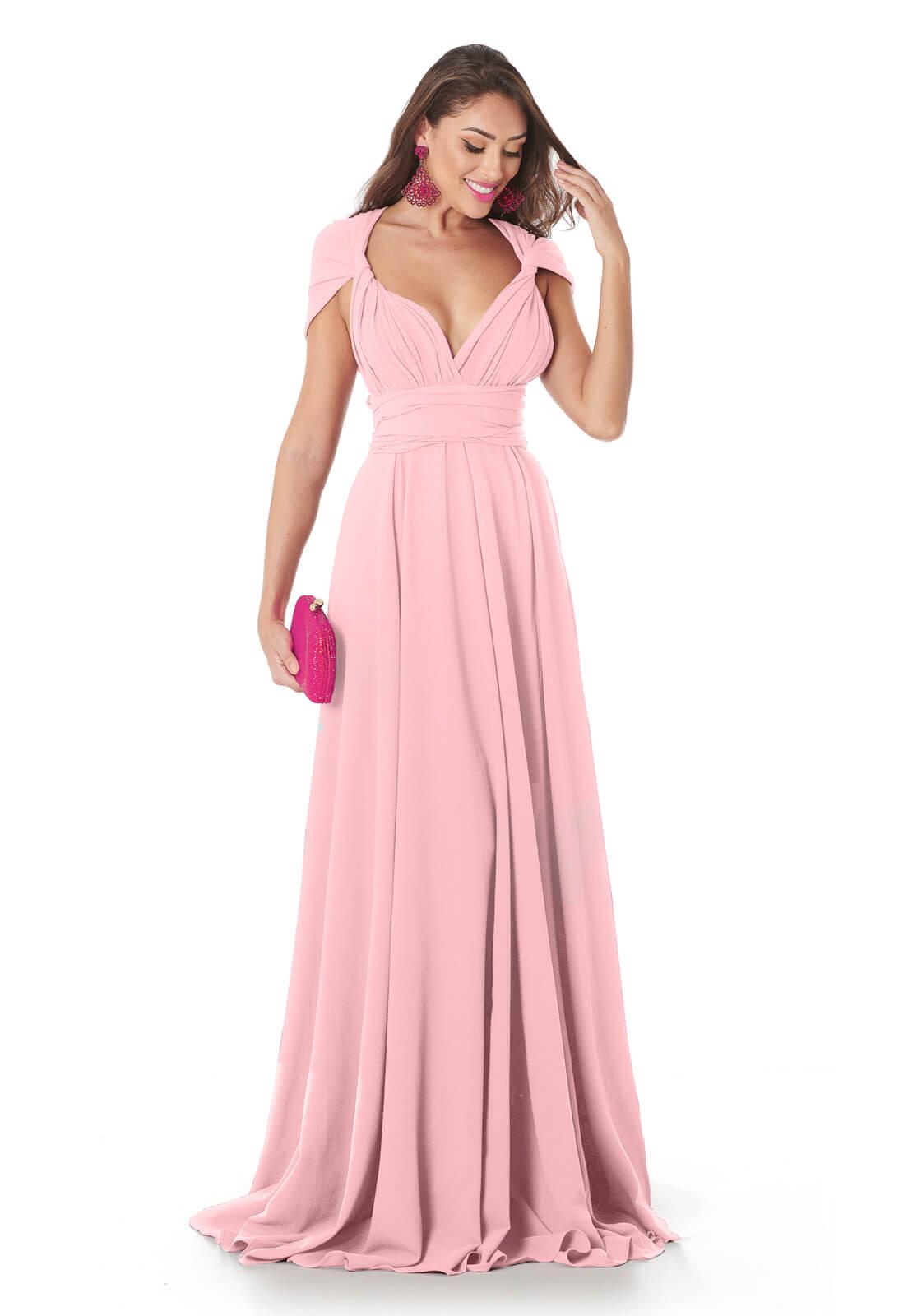 Vestido Mil Formas Rosa Claro