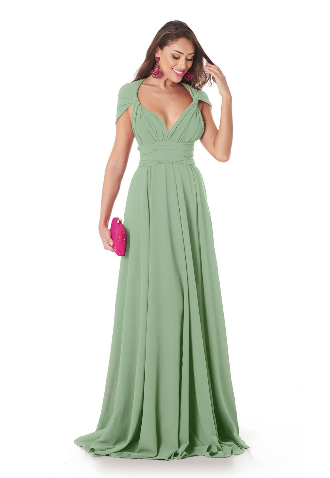 Vestido Mil Formas Verde Claro
