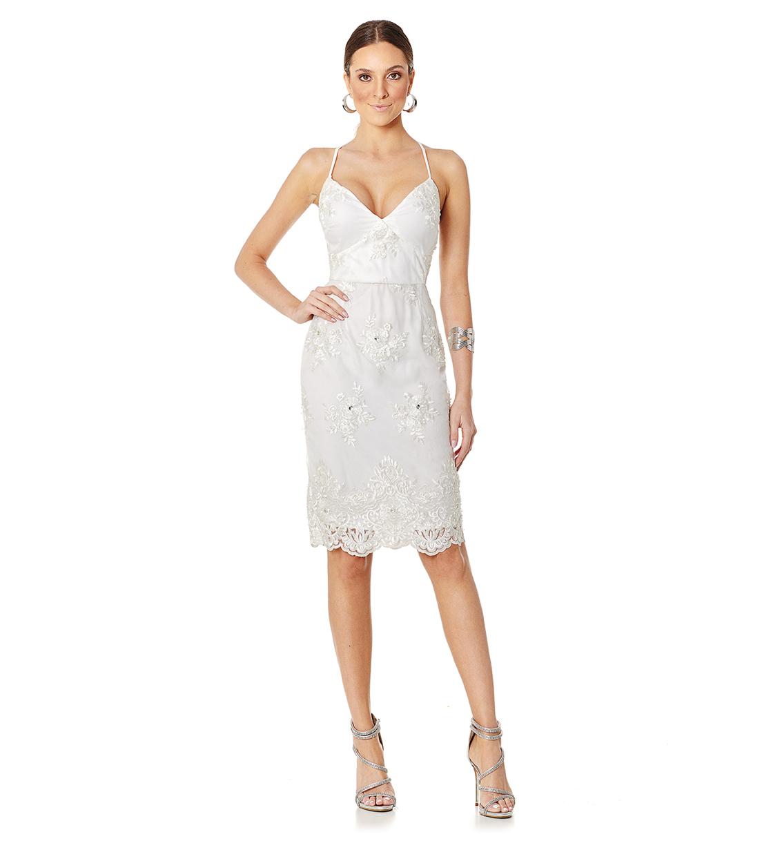 Vestido Pedraria Branco