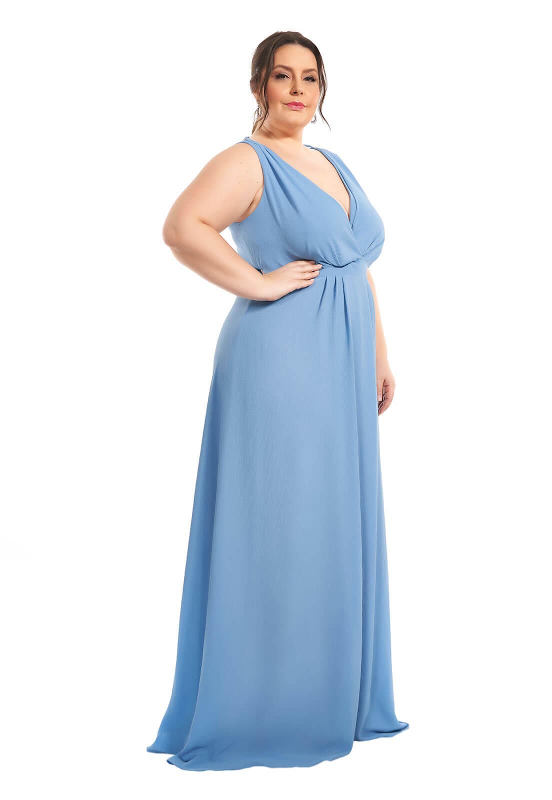 Vestido Plus Size Azul Serenity