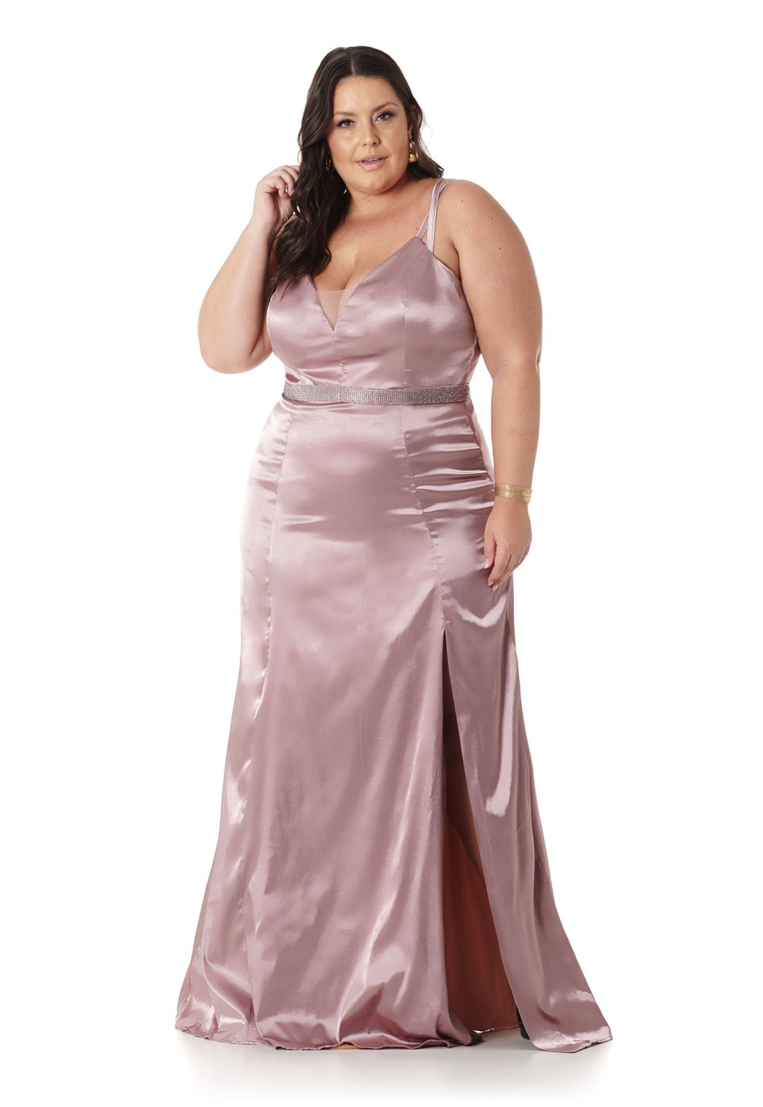 Vestido Longo Plus Size Old Rosê Lala Dubi