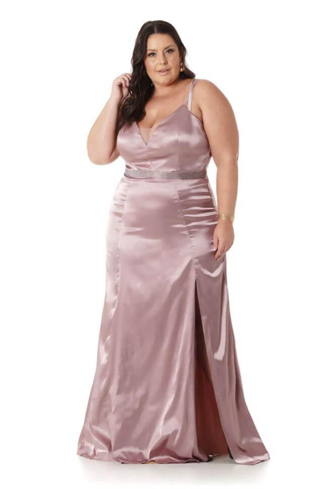 Vestido Plus Size Old Rosê
