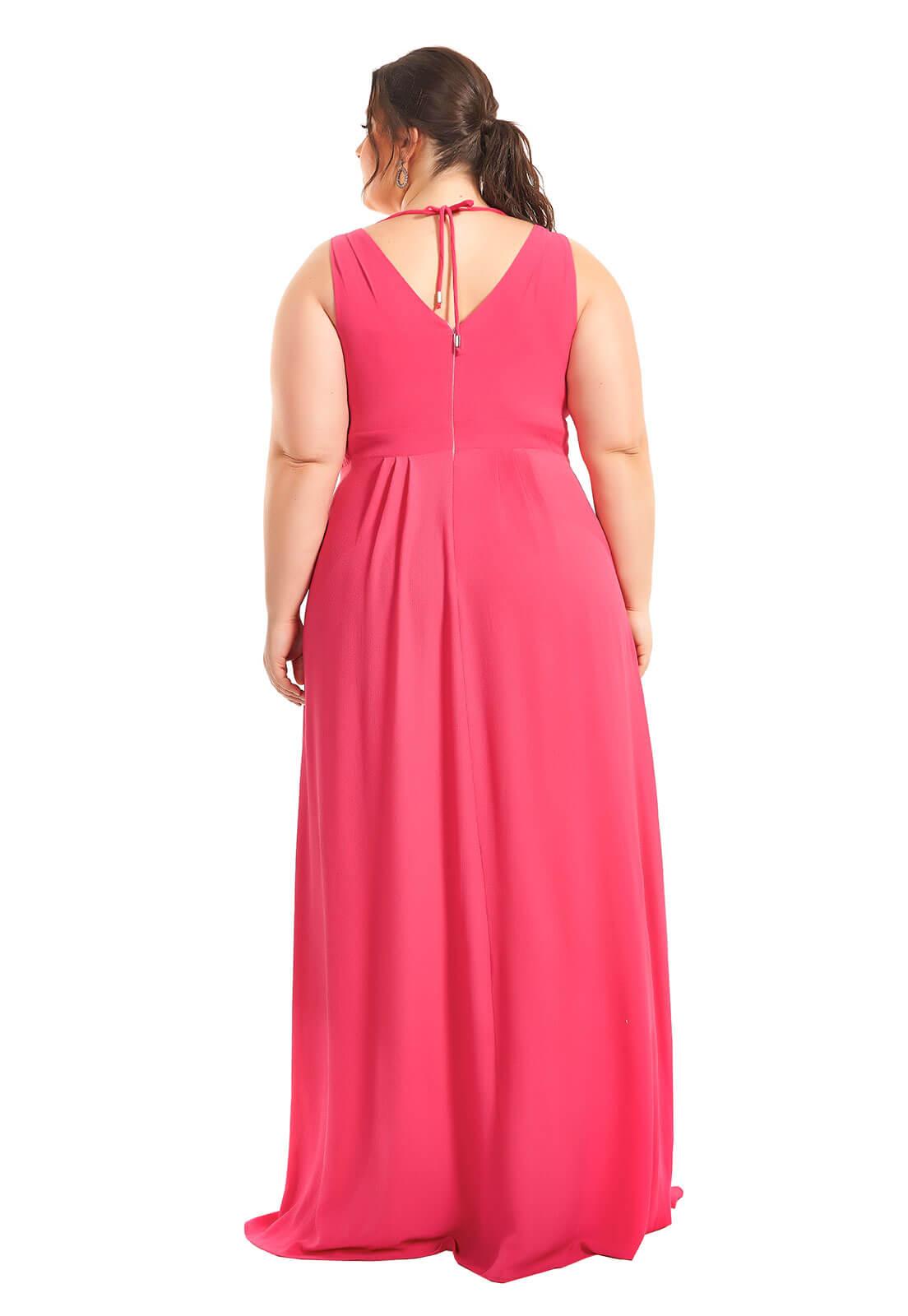 Vestido Plus Size Rosa Cupido