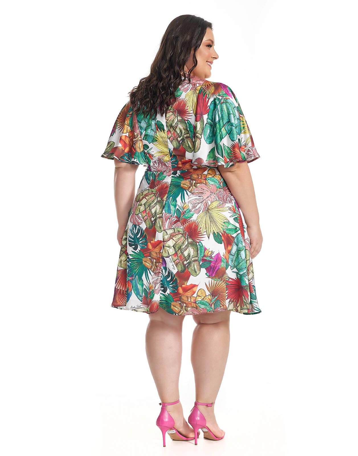 Vestido Plus Size Tropical