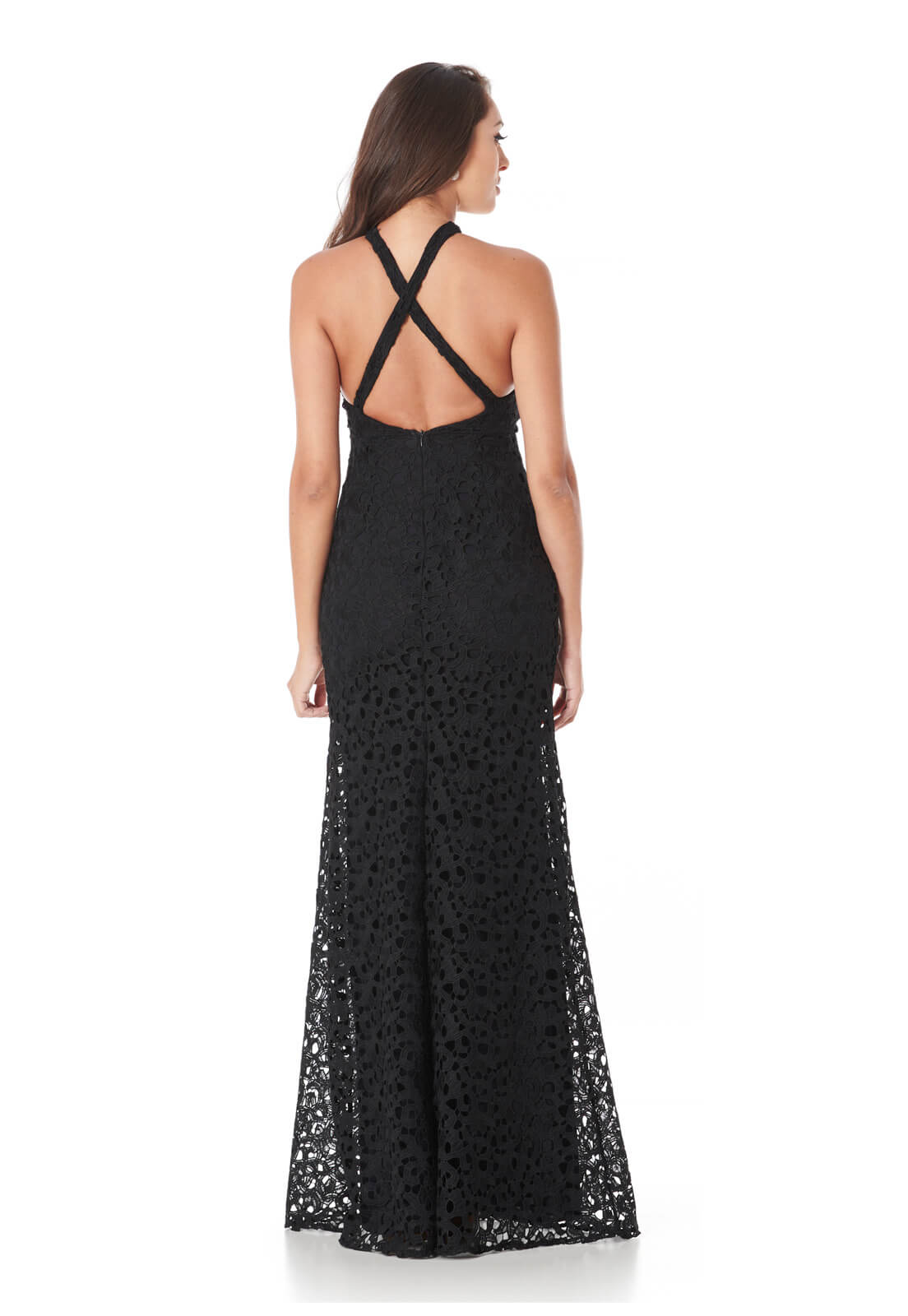 Vestido Sereia Guipir Arab Preto