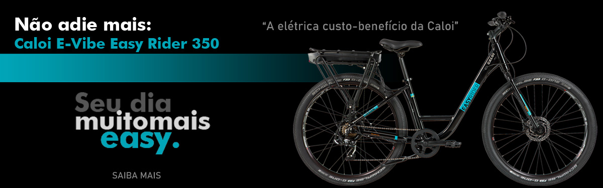 Bicicleta Elétrica Caloi Easy Rider E-Vibe na Anderson Cycle Roots