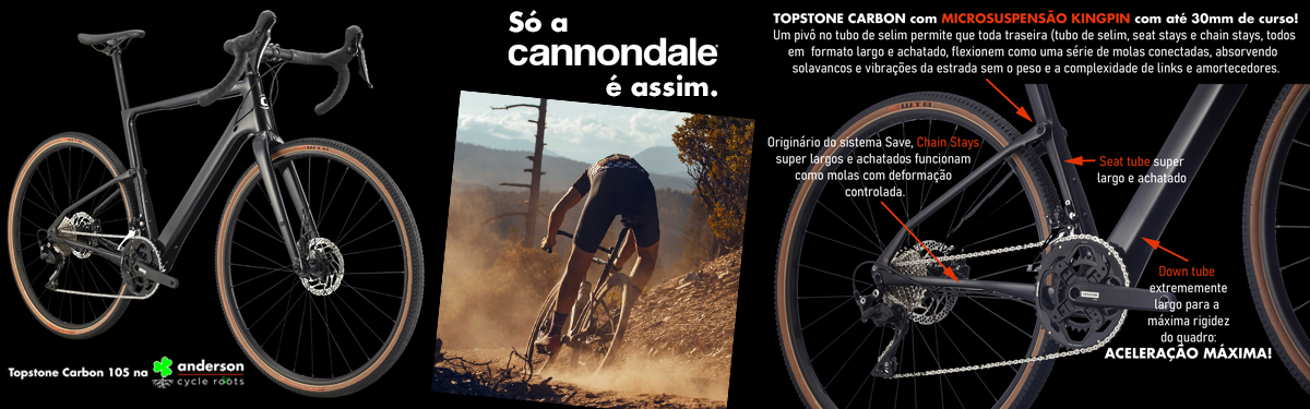 Cannondale Topstone 105  a gravel mais evoluída do mundo na Anderson Cycle Roots