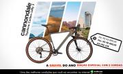 BICICLETA CANNONDALE TOPSTONE CARBON LEFTY 3 M CINZA 2021 EDIÇÃO ESPECIAL ANDERSON 2 COROAS