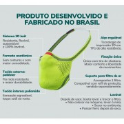 MASCARA DE PROTECAO FIBER ADULTO M PRETO