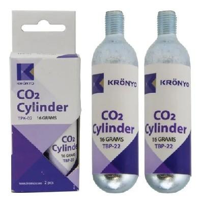 CARTUCHO CO2 TPK-02 C/ROSCA C/2 16GR