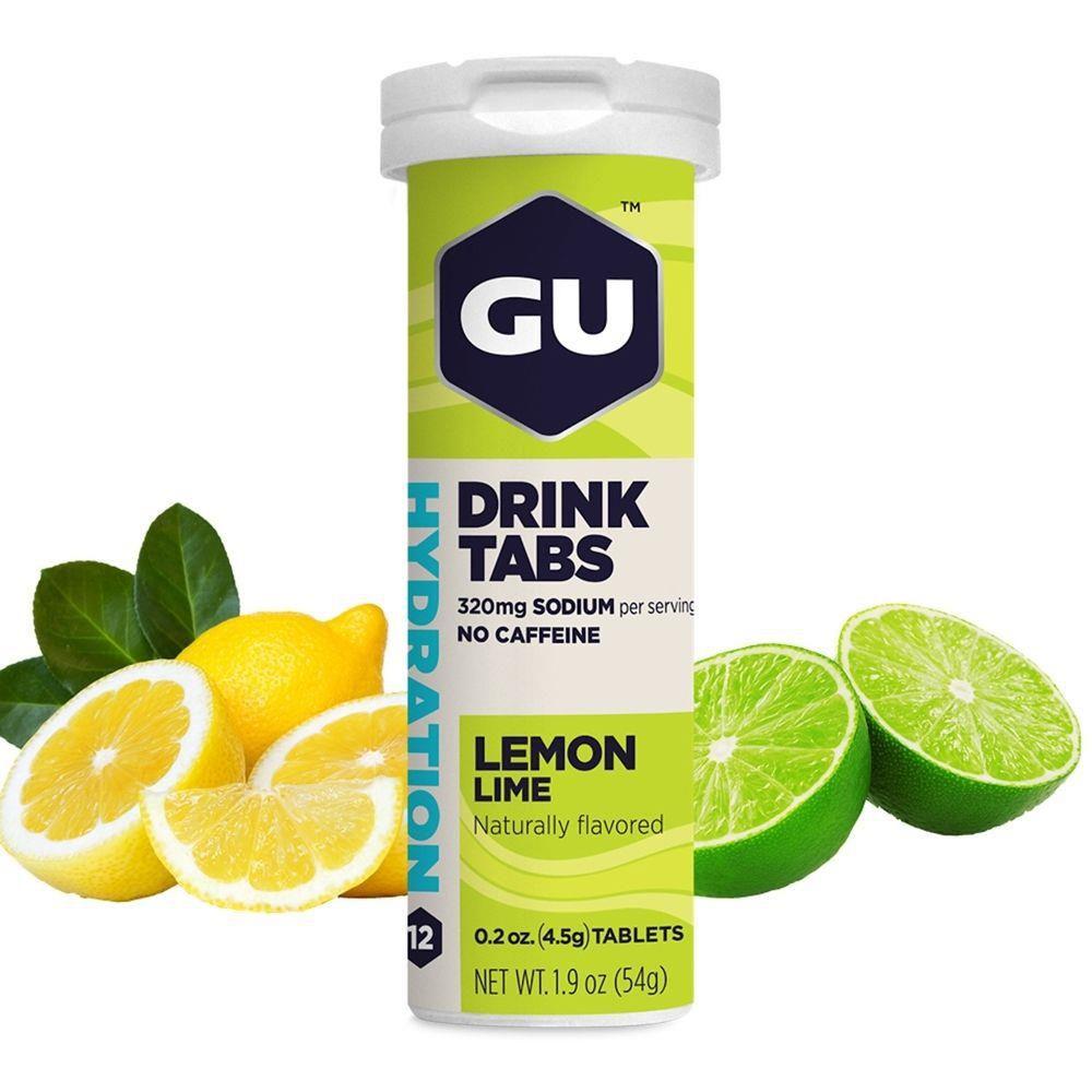 GU ENERGY DRINK TABS - SABOR LIMAO/LIMA
