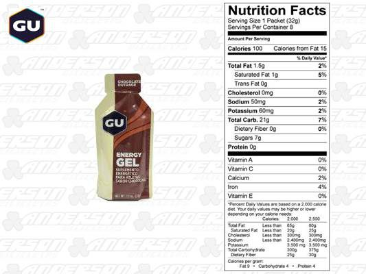 GU ENERGY GEL CHOCOLATE BELGA (32G)