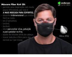 MASCARA DE PROTECAO FIBER P PRETO
