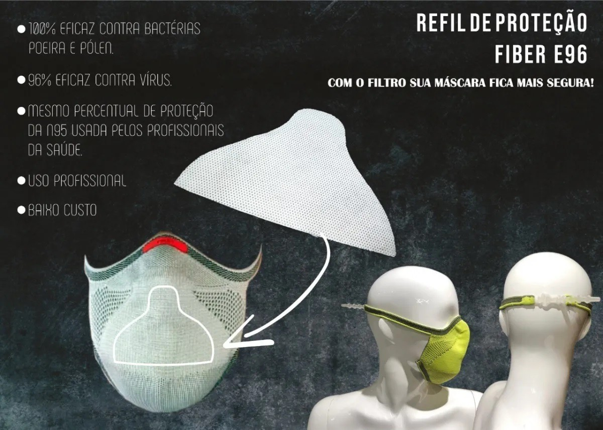 REFIL DE PROTECAO FIBER TAMANHO 2 E 3 BRANCO