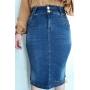 Saia feminina jeans Rowan