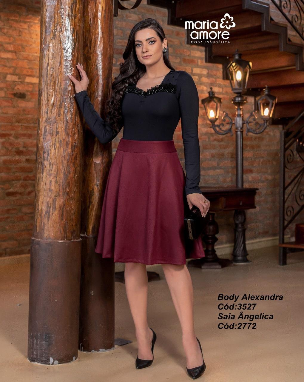 Body feminino Alexandra  Maria Amore