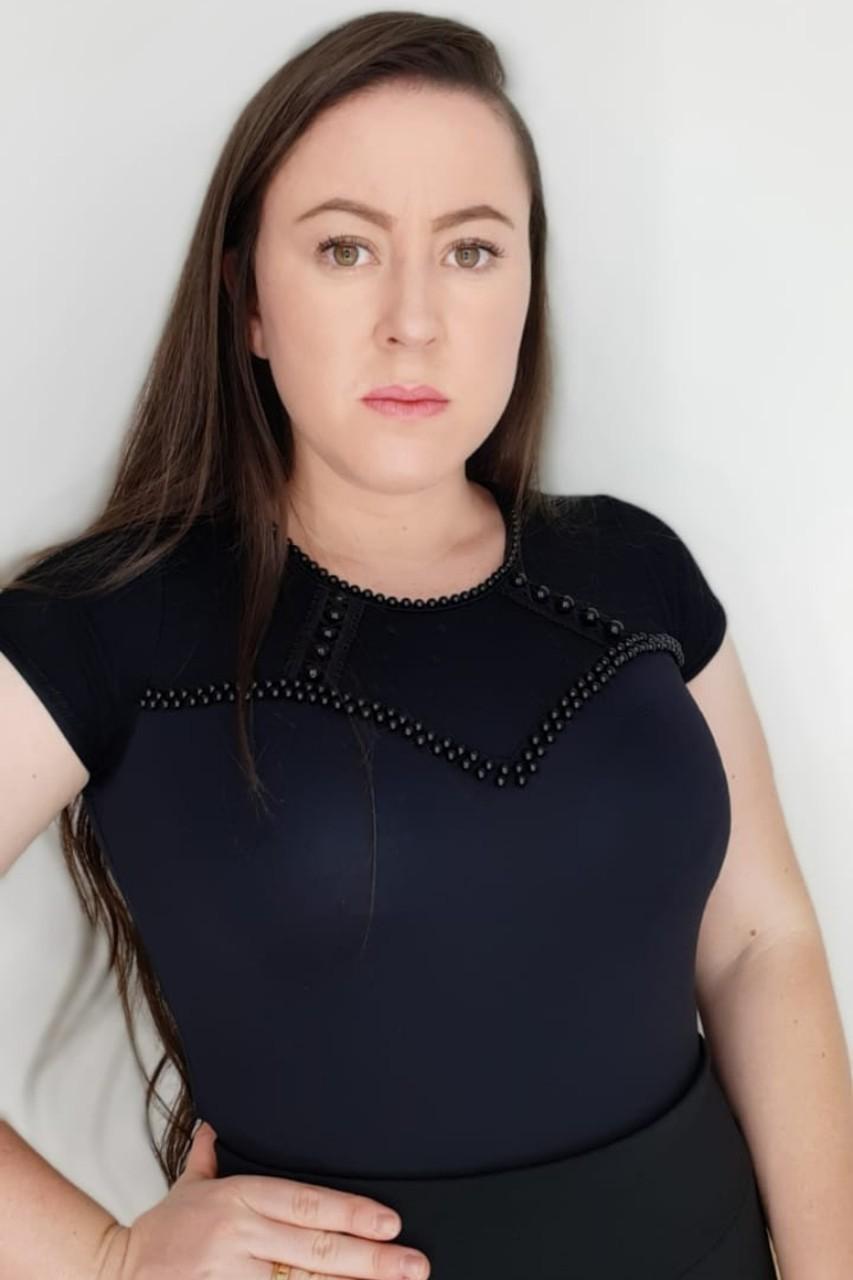 Body feminino bordado Maria Amore