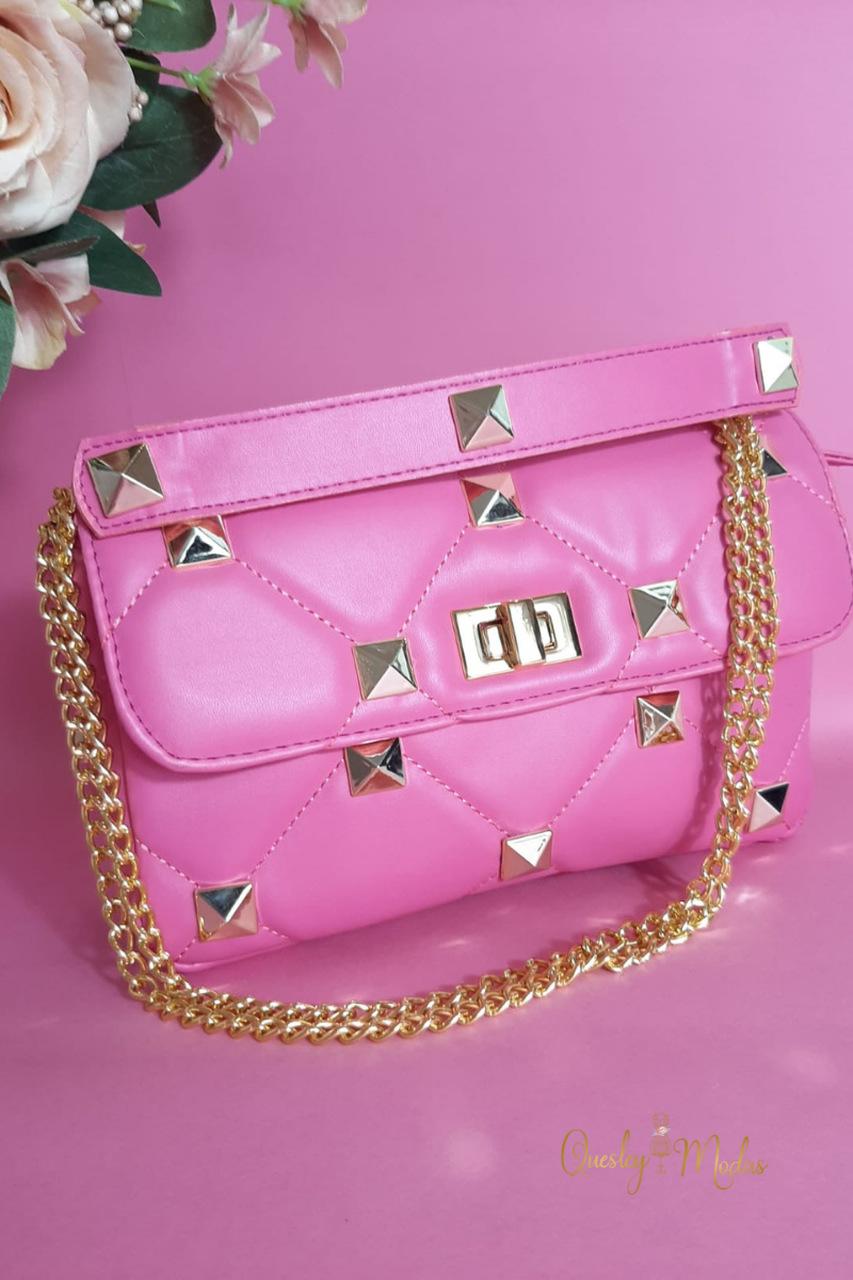 Bolsa feminina com tachas Birô