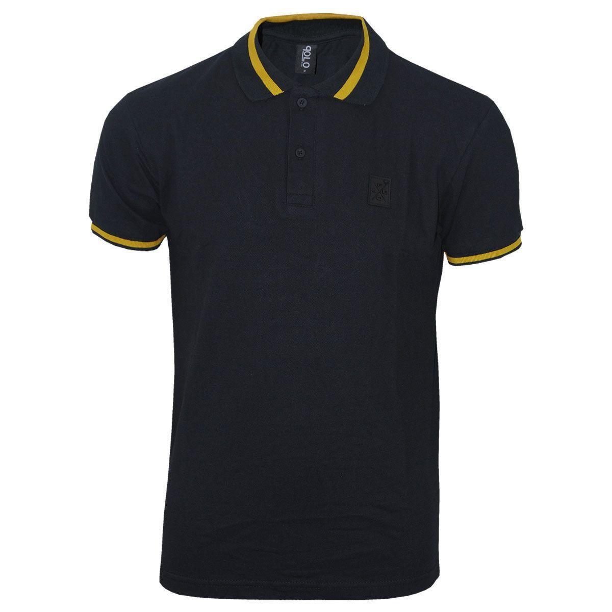 Camisa Polo com detalhe emborrachado moda masculina
