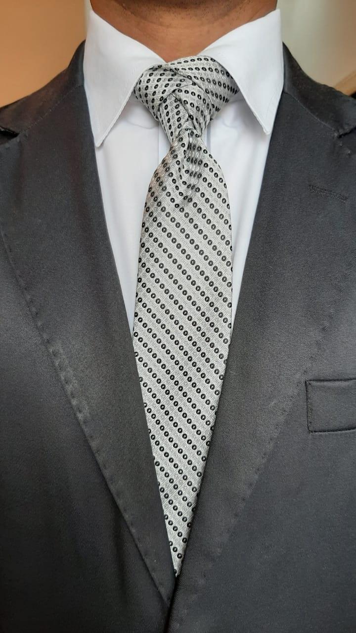 Gravatas masculinas listrada F&Q Moda Masculina