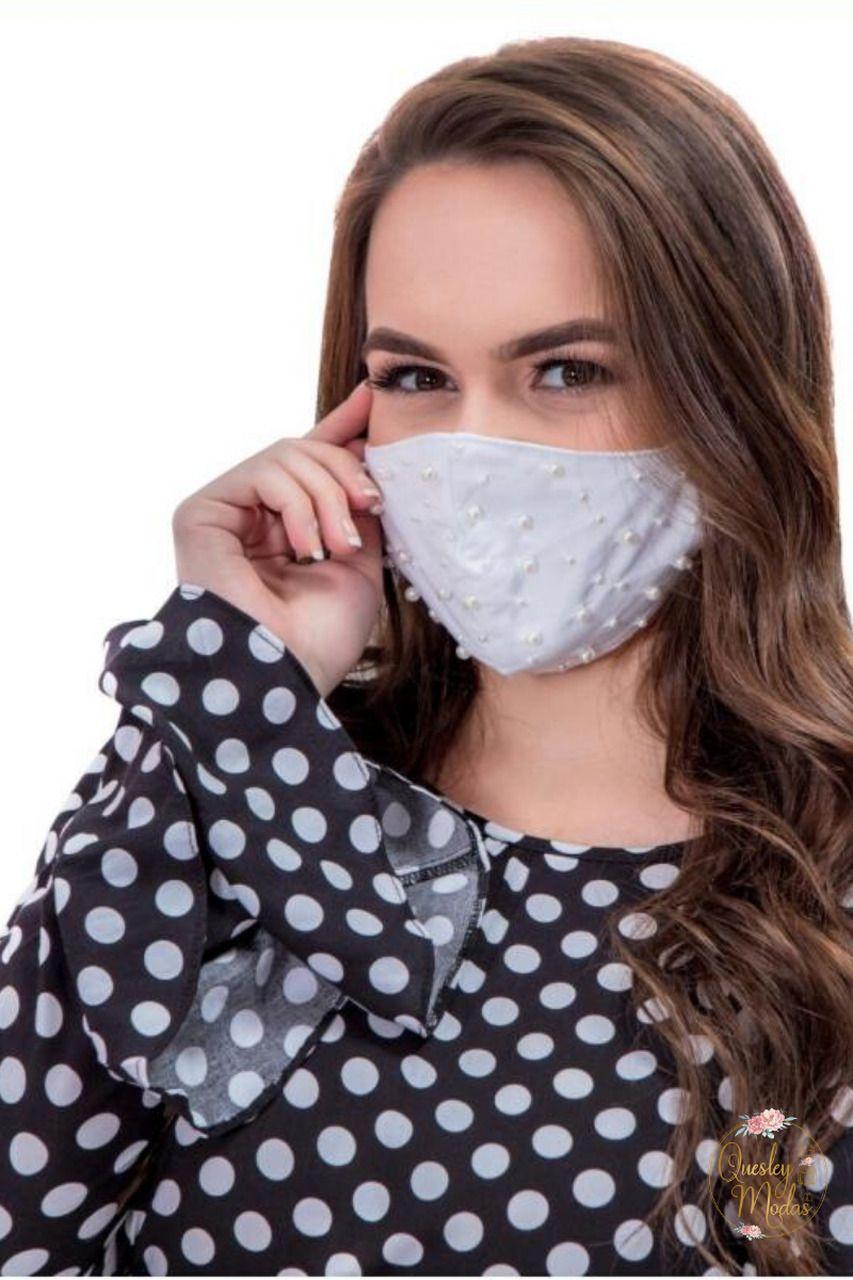 Máscaras femininas com aplique Hadaza