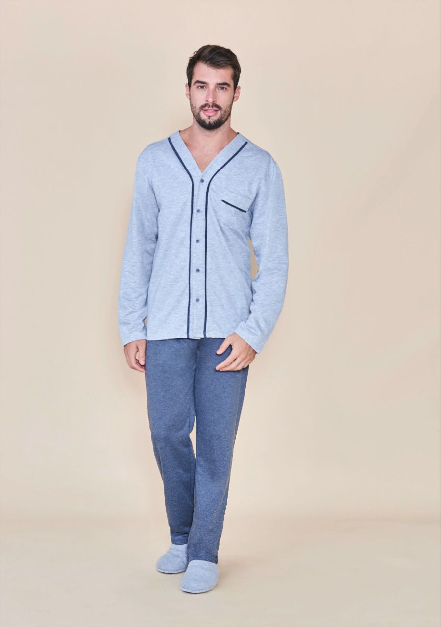 Pijamas masculino aberto Lua Cheia