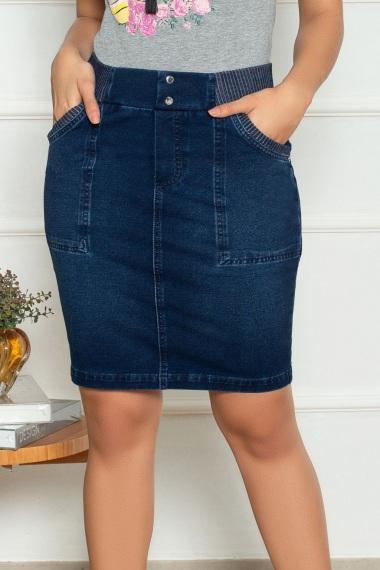 Saia feminina jeans Mariah Nítido