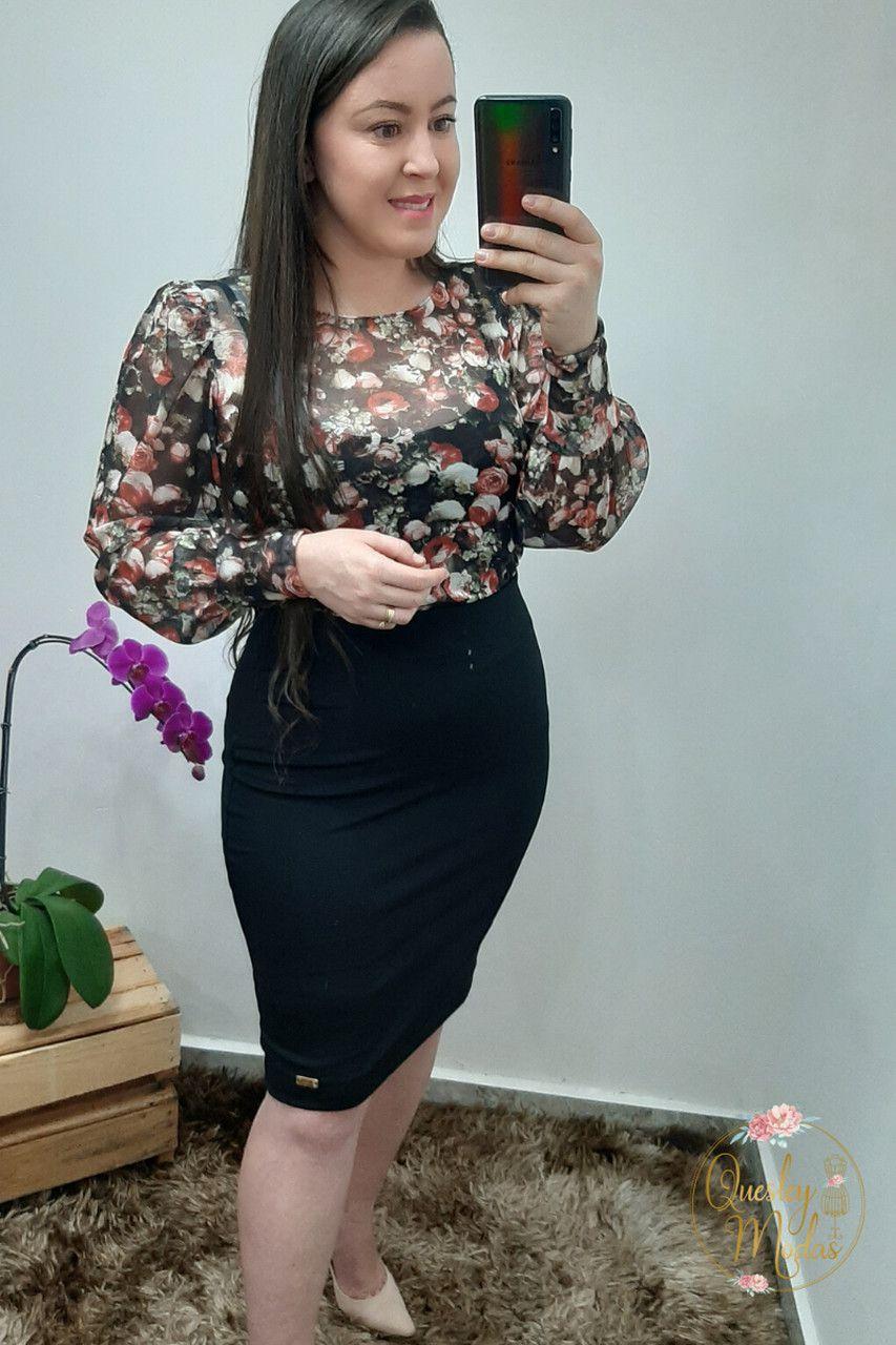 Saia feminina secretária básica Maria Amore