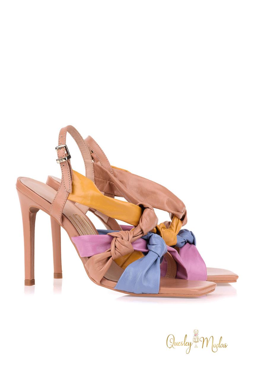 Sandália Salto Alto New Couro Heaven Uza Shoes