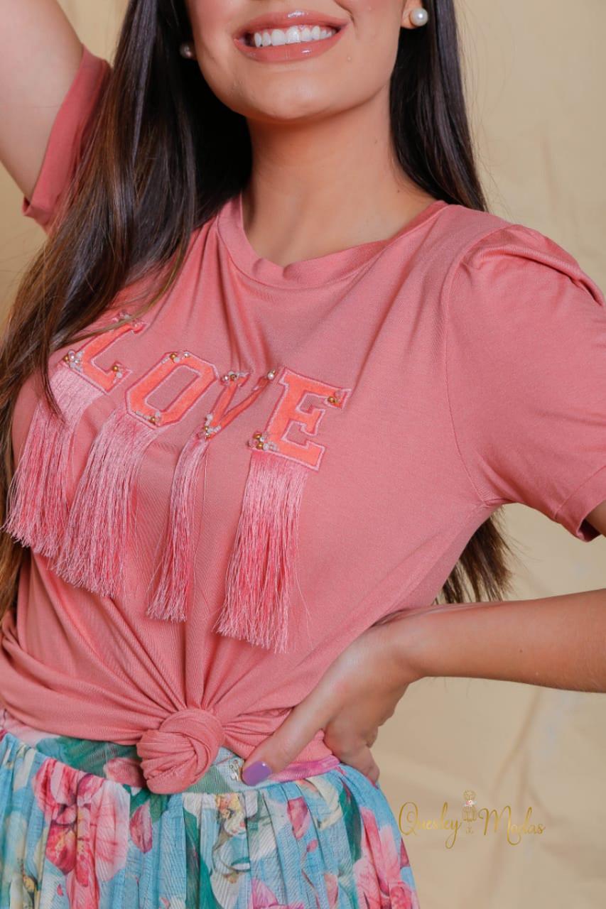 T-shirt feminina Love Begônia Victória Princess