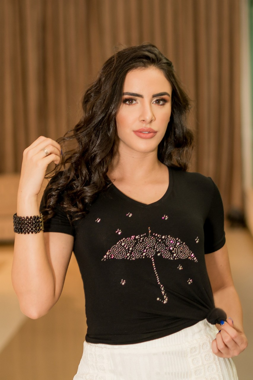T-shirt feminina termocolante Luciana Pais
