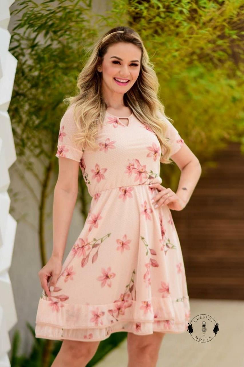 Vestido feminino 2 babados Maria Amore