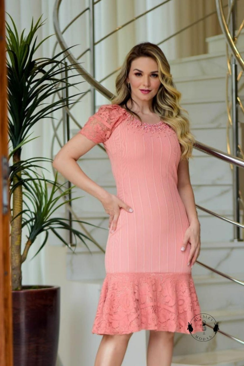 Vestido feminino babados Maria Amore