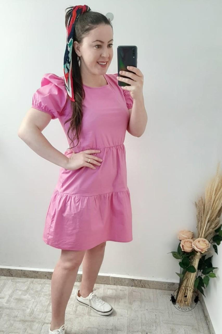 Vestido feminino em tricoline Sécia
