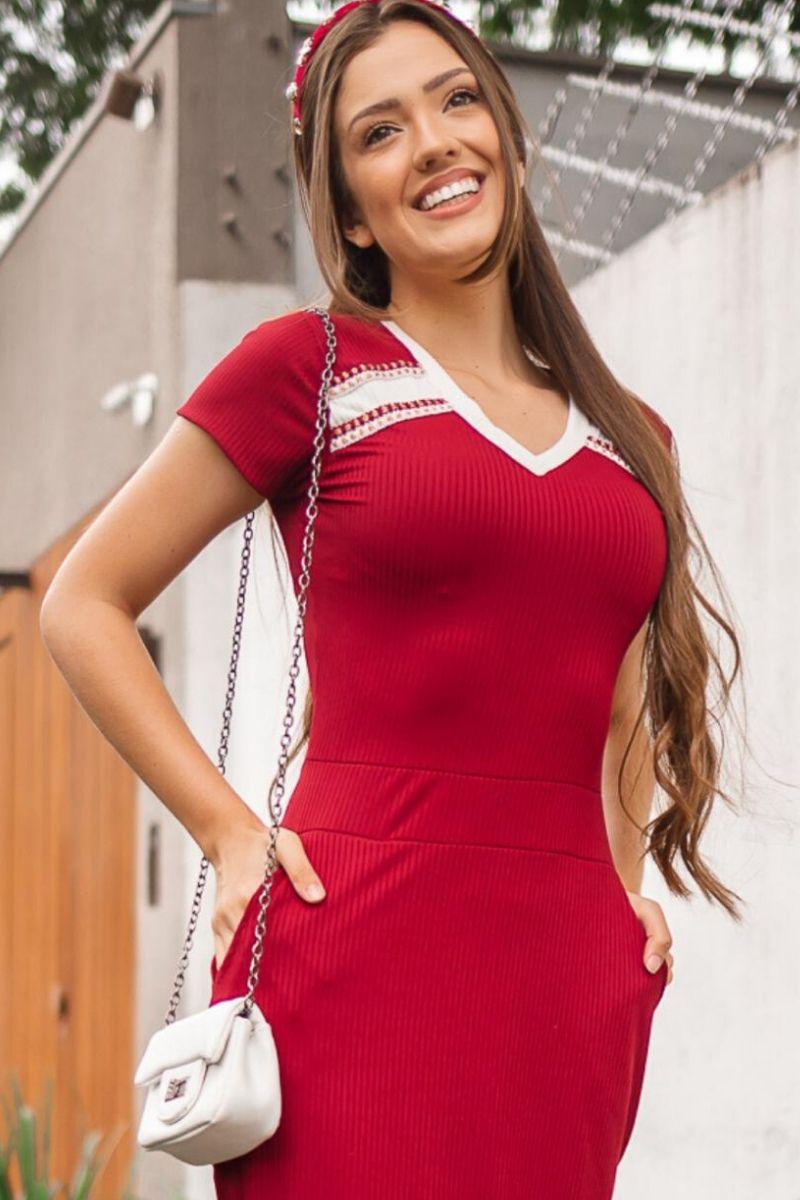 Vestido tubinho com bolso moda evangélica maria amore
