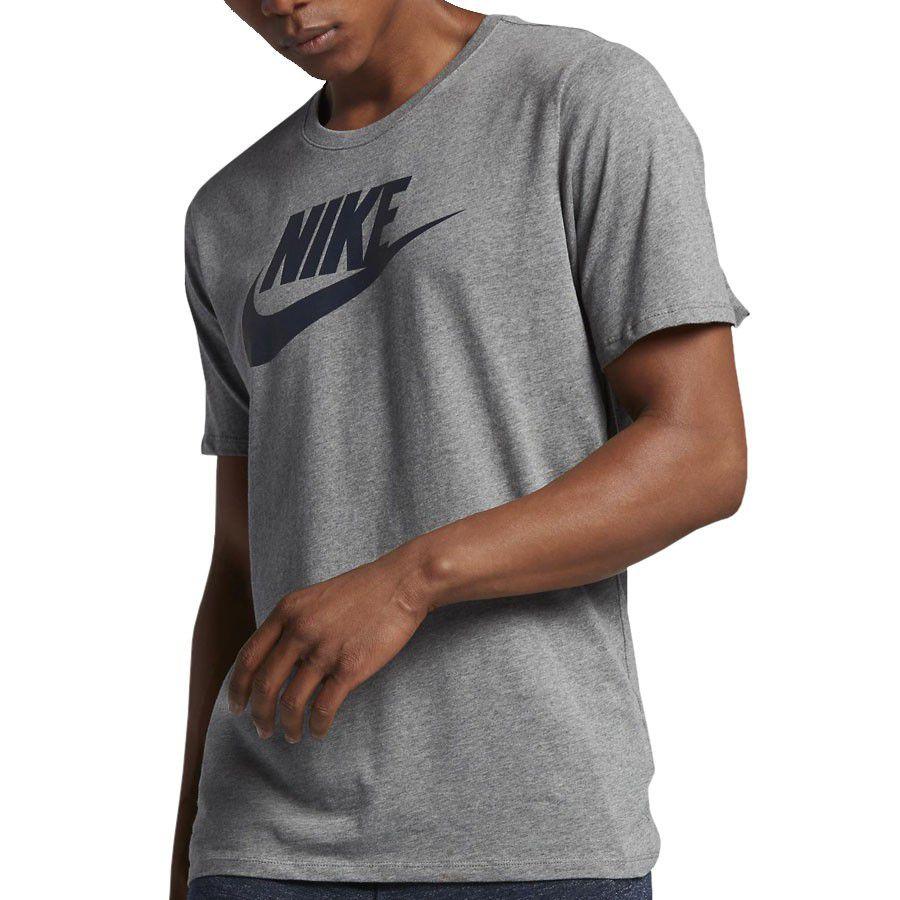 venta usa online selección mundial de zapatos para correr Camiseta Nike Sb futura icon dry tee logo cinza mescla AR4209-066