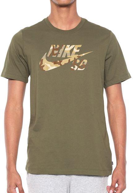 ed7bbe3eda Camiseta Nike Sb logo camu verde