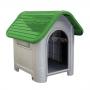 Casa plástica mec pet dog home Nº3 verde