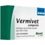 Vermífugo vermivet composto 600mg com 4 comprimidos para cães e gatos