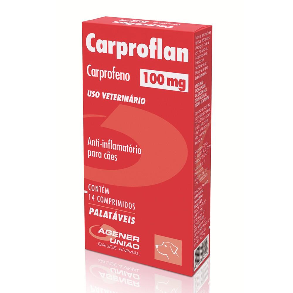 Anti-inflamatório agener união carproflan 100mg com 14 comprimidos