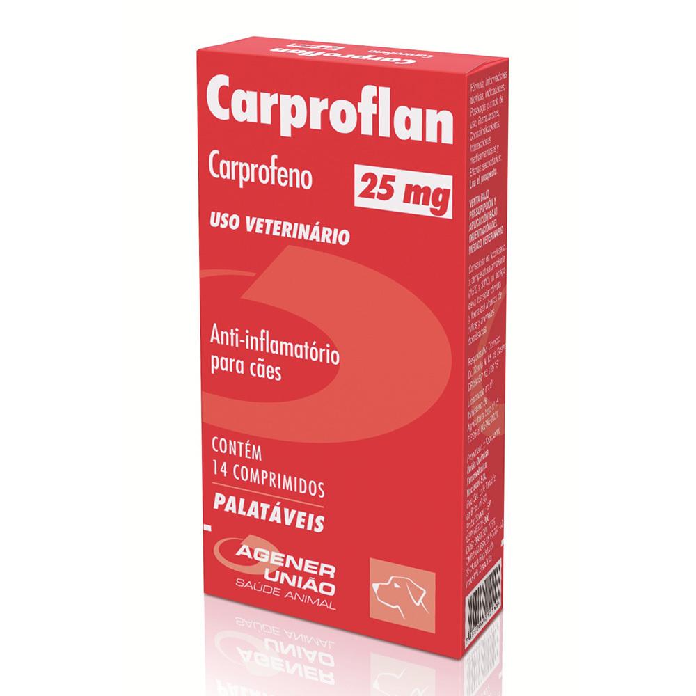 Anti-inflamatório agener união carproflan 25mg com 14 comprimidos
