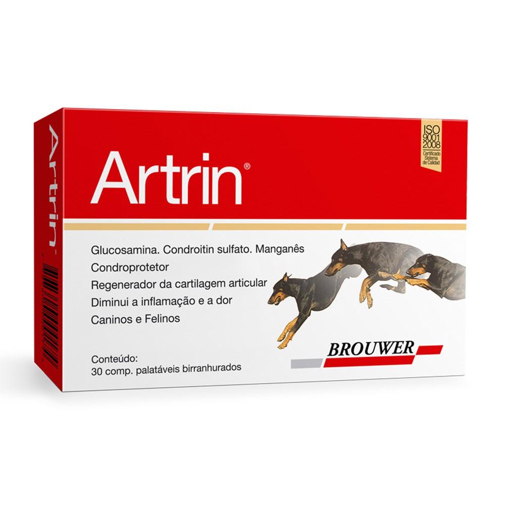 Anti-inflamatório brouwer artrin condroprotetor para cães com 30 comprimidos