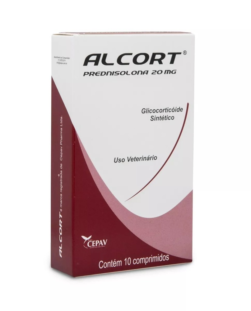 Anti-inflamatório cepav alcort 20mg para cães com 10 comprimidos