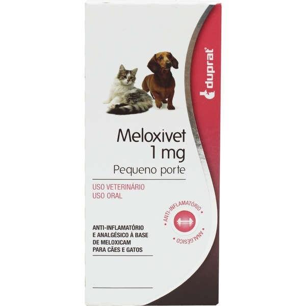 Anti-Inflamatório Duprat Meloxivet 1mg cartela com 10 comprimidos