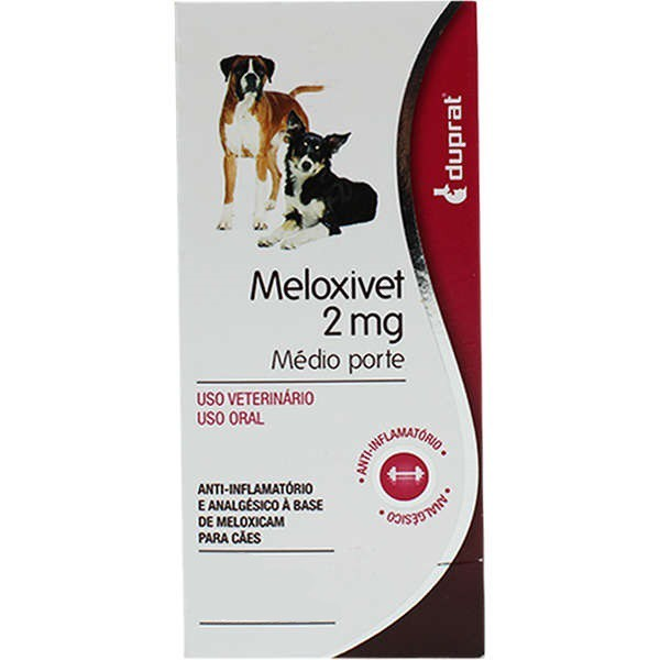 Anti-Inflamatório Duprat Meloxivet 2mg cartela com 10 comprimidos