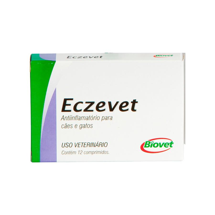 Anti-inflamatório eczevet biovet com 12 comprimidos
