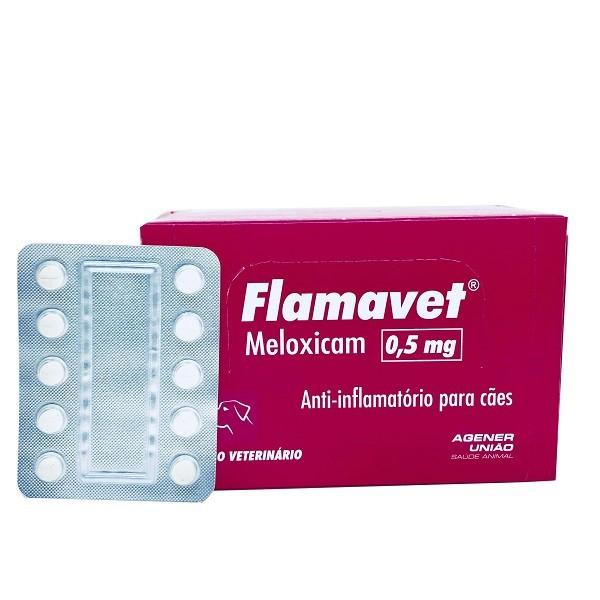 Anti-Inflamatório flamavet cães 0,5mg cartela avulsa com 10 comprimidos