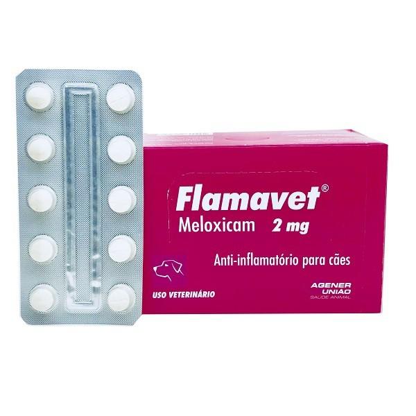 Anti-Inflamatório flamavet cães 2mg cartela avulsa com 10 comprimidos